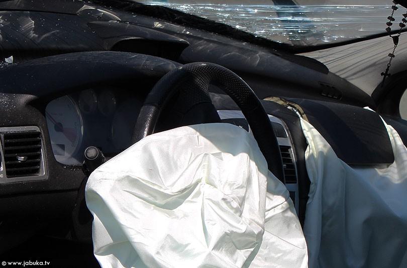 Zračni jastuk prometna ilustracija