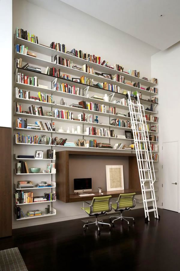 Great-bookshelves-for-wall-design-ideas-and-nice-armchairs