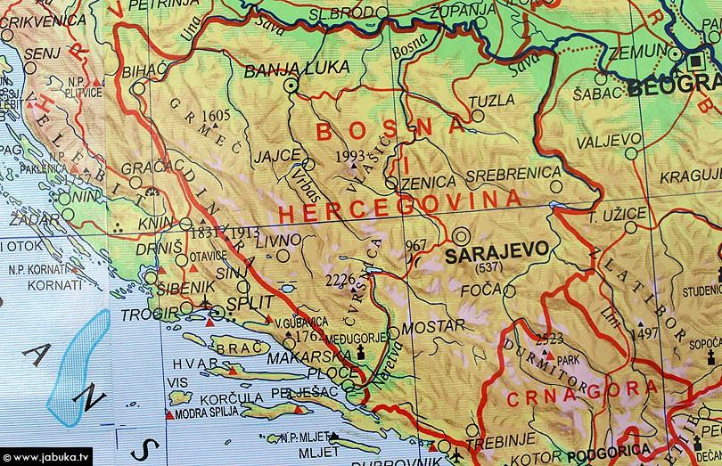 karta bih i srbije Zapadnu Hercegovinu pripojiti Hrvatskoj, a Srbiju protegnuti do  karta bih i srbije