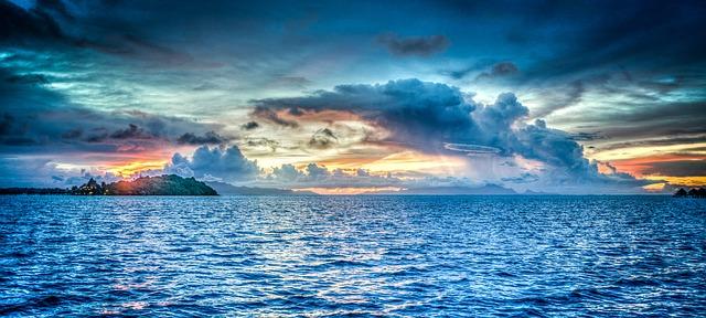 boje plava more