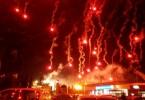 Split, 13.2.2016. - Navijaèka skupina Torcida je povodom proslave 105. roðendana Hajduka ispred stadiona na Poljudu priredila vatromet. foto HINA / Mario STRMOTIÆ / mm