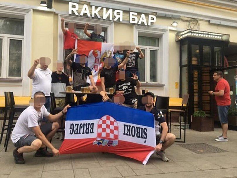 Srpski Navijači Napali Hrvatske Pala Zastava širokoga