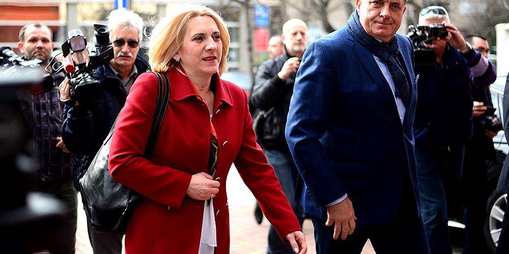 Predsjednica Republike Srpske Željka Cvijanović i Miload Dodik