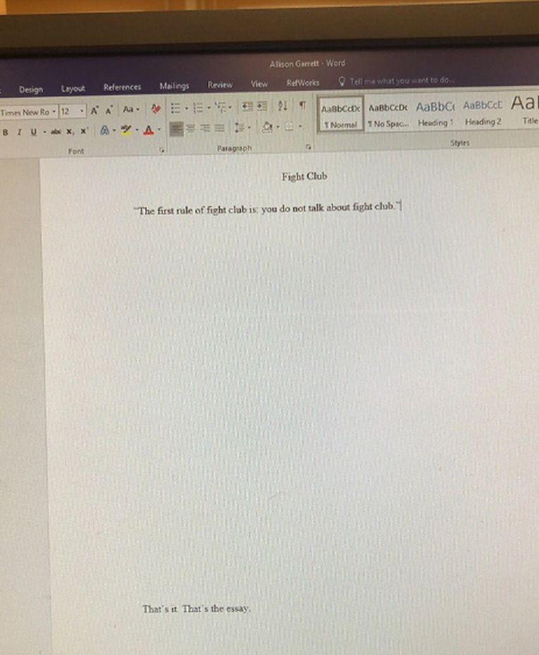 Studentica napisala esej od samo jedne rečenice o Klubu boraca i zaradila peticu 1