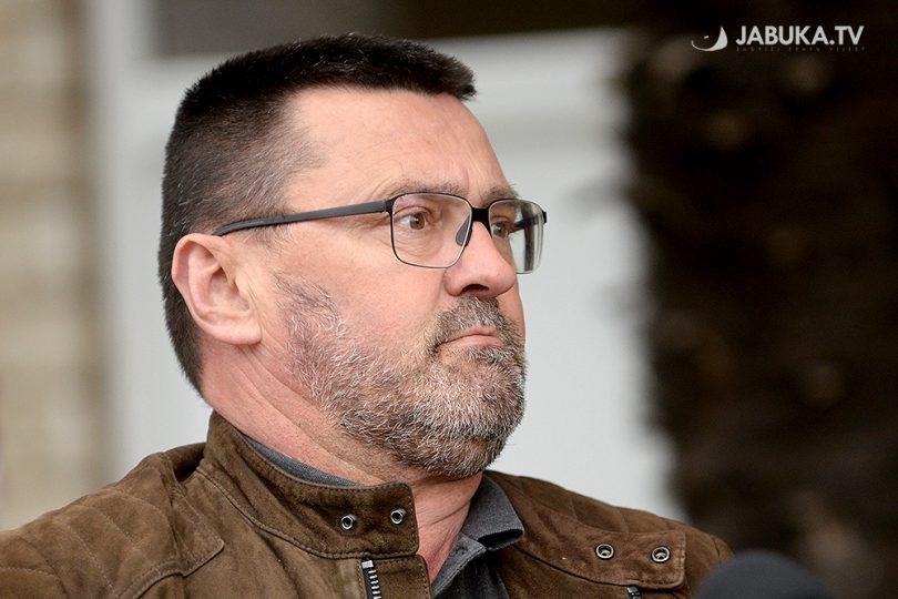 Dr. Ante Kvesić, na konferenciji za medije u Širokom Brijegu.