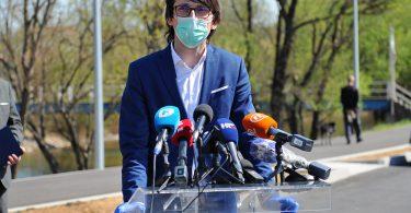 Tomislav Pejić, ministar zdravstva, rada i socijalne skrbi ŽZH na konferenciji za novinare Stožera civilne zaštite ŽZH u Širokom Brijegu