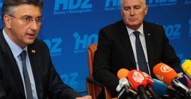 Andrej Plenković i Dragan Čović u Mostaru